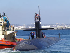 Uss Bremerton (ssn 698) Departs Its Homeport Of San Diego For A Western Pacific Deployment Image