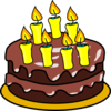 7th Birthday Cake Clip Art