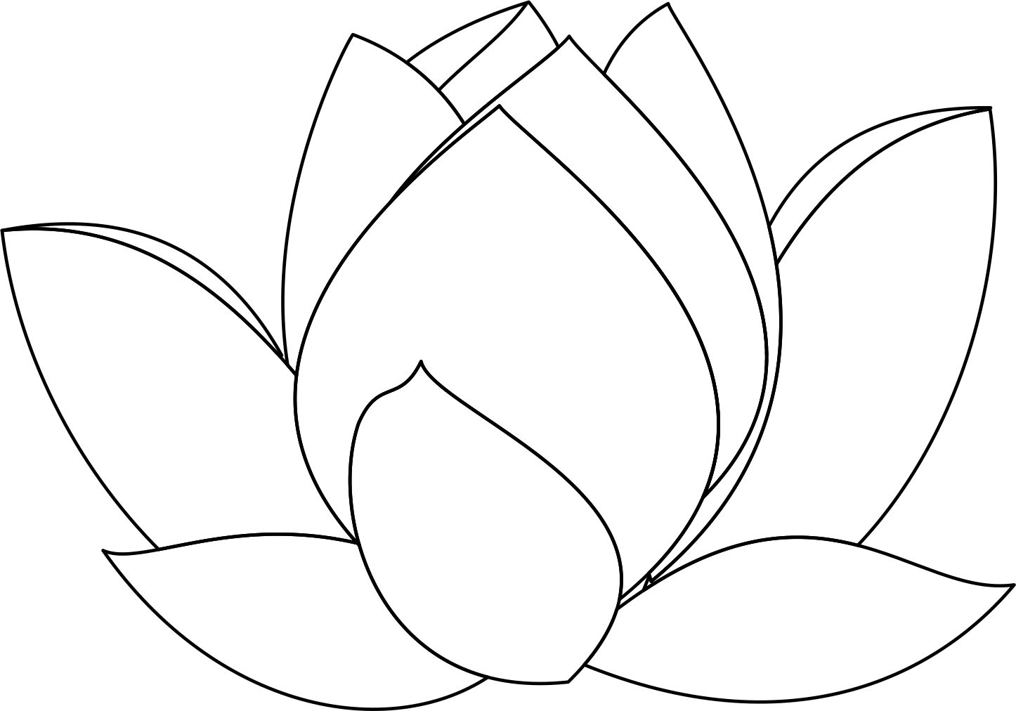 lotus flower line drawing - photo #8