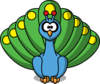 Cartoon Peacock Clip Art