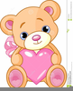 Clipart Teddy Bear With Heart Image