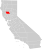 California County Map Glenn County Highlighted Clip Art