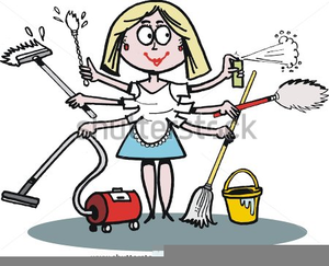 Stupendous Overworked Housewife Clipart Free Images At Clker Com Interior Design Ideas Clesiryabchikinfo