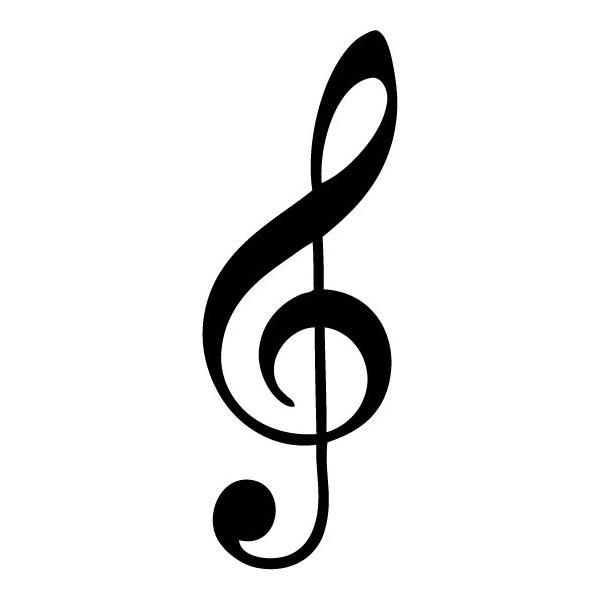 Vinilo Clave De Sol Notas Musicales image - vector clip art online ...
