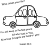 Car Outline Sunday School Clip Art