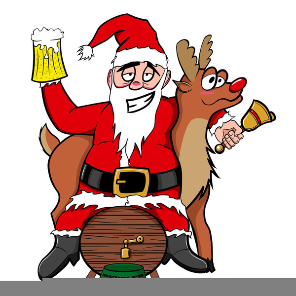Drunk Santa Clipart Free Images at Clkercom vector