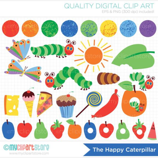 Very Hungry Caterpillar Digital Clipart Free Images At Clker Com