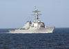 The Arleigh Burke-class, Guided Missile Destroyer Uss Ross (ddg 71) Steams Through The Baltic Sea During The Annual Maritime Exercise Baltic Operations 2003 (baltops) Image