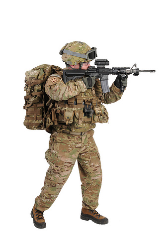 soldier in multicam free images at clkercom vector