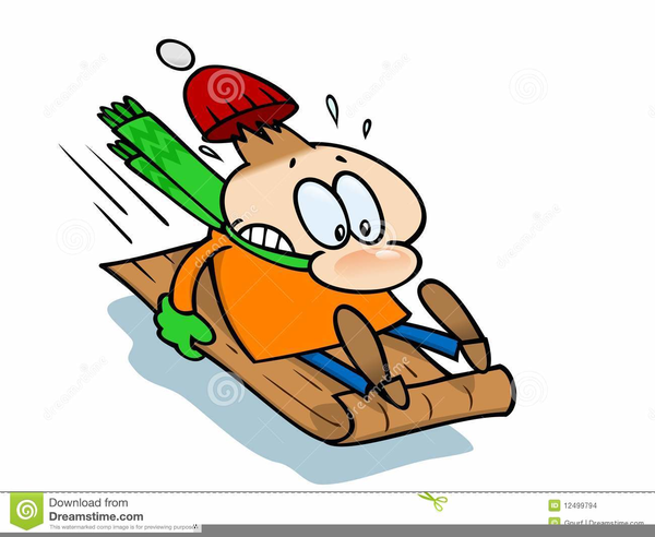 boy sliding down a hill on his toboggan Royalty Free Vector Clip Art  illustration -vc107594-CoolCLIPS.com