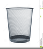 Trash Can Clipart Black And White Image