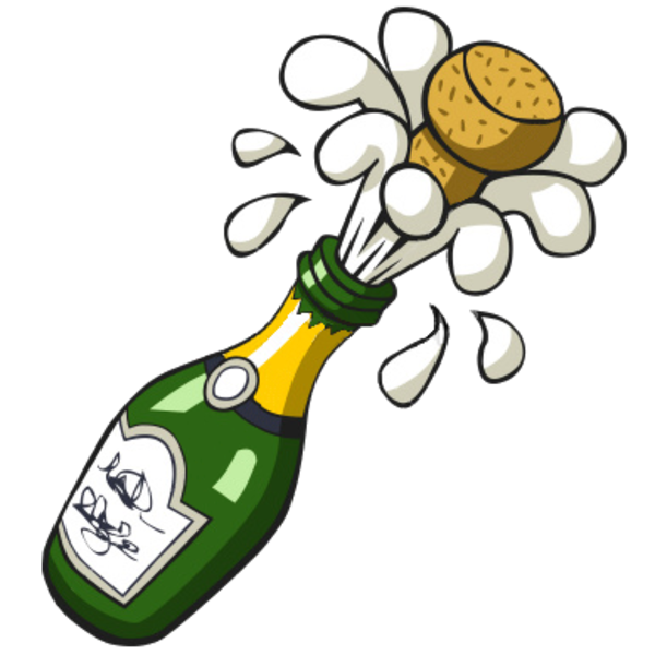 Ist Popping Champagne Bottle | Free Images at Clker.com - vector clip art online, royalty free ...