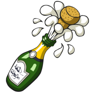 Image result for ANIMATED popping champagne