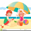 Free Clipart Of Children Playing At The Beach Image