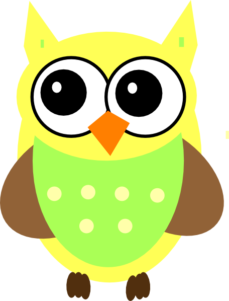 yellow baby owl clip art at clker com vector clip art online rh clker com cute baby owl cartoon pictures baby blue owl cartoon