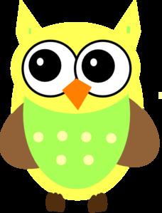 yellow baby owl clip art at clker com vector clip art online rh clker com