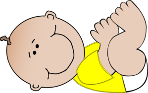 Neutral Baby Lying Down Clip Art