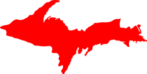 Michigan Upper Peninsula-red Clip Art