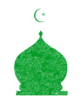 Green Mosque Sermon Template Image