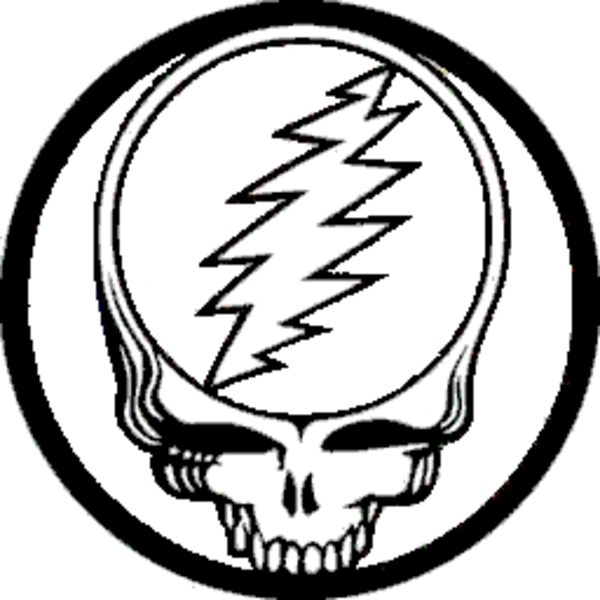 the grateful dead steal your face purple yellow button b free images at clkercom vector clip art online royalty free public domain - Grateful Dead Coloring Book