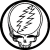 The Grateful Dead Steal Your Face Purple Yellow Button B Image