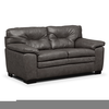 Gray Leather Loveseat Image