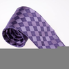 Purple Checkered Tie Image