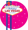 Clip Art Graphic Of A Las Vegas Sign Over A Pink Sparkly Background By Maria Bell Image