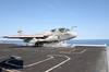 An Ea-6b Launches From One Of Four Steam Powered Catapults On The Ship S Flight Deck Image