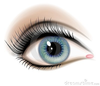 Green Eyeball Clipart Image