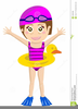 Free Kid Swimming Clipart Image
