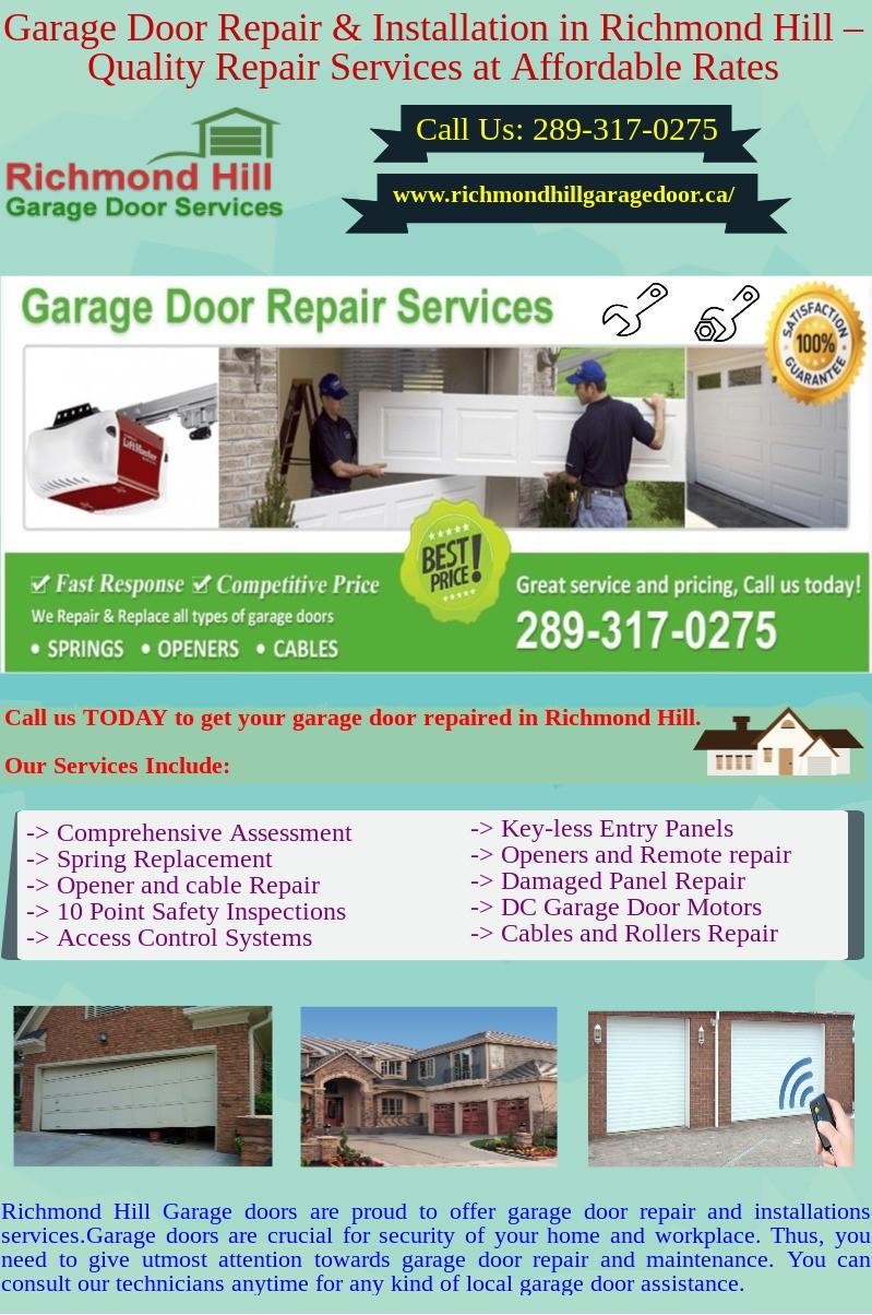 Find Best Garage Door Installation And Repair Services In Richmond