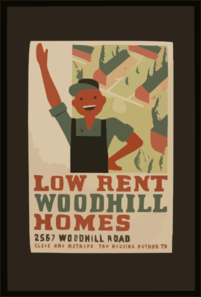 Low Rent - Woodhill Homes, 2567 Woodhill Road Clip Art