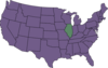 U.s. Map Highlighting Illinois Clip Art