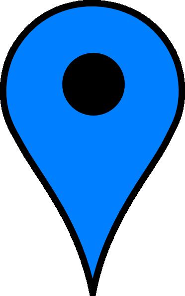 blue pin clip art at clkercom vector clip art online