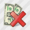 Icon Money Delete Image