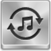 Free Silver Button Music Converter Image
