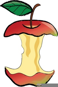 Apple half. Eaten clipart free images
