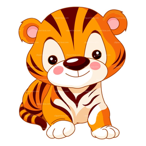 free baby tiger clipart free images at clker com vector clip art rh clker com free clipart tiger head free tiger clipart black and white