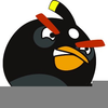Angry Birds Clipart Black And White Image