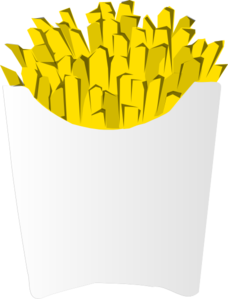 Fries White Packet Clip Art