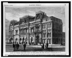 Booth S New Theatre, Twenty-third Street And Sixth Avenue Image