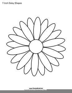 Daisy Outline Drawing Image