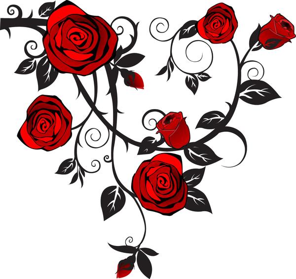 Rose Vine Tattoo Designs