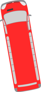 Red Bus - 100 Clip Art