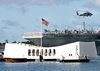 Uss Abraham Lincoln (cvn 72) Passes The Arizona Memorial In Pearl Harbor, Hawaii Image