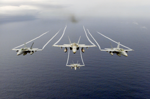 F/a-18 Hornets Assigned To The Mighty Shrikes Of Strike Fighter Squadron Ninety Four (vfa-94) Image