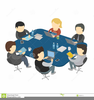 People Sitting At Table Clipart Image