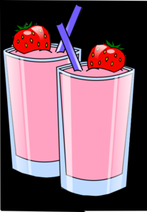 Strawberry Smoothie Clip Art
