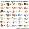Standard Agriculture Icons Image